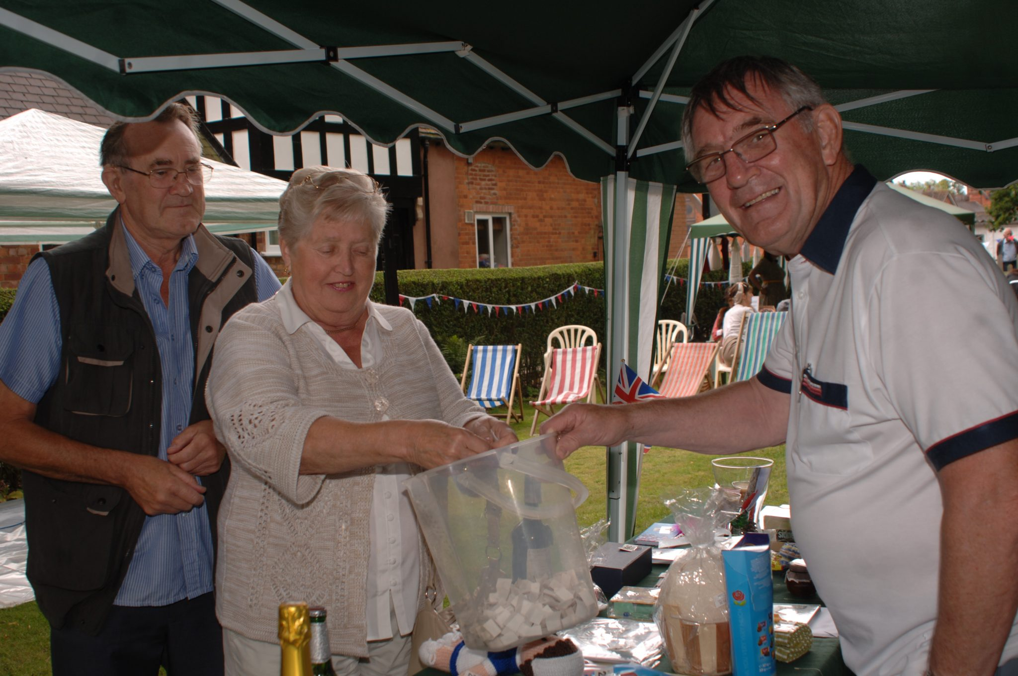 Roger selling Tombola tickets