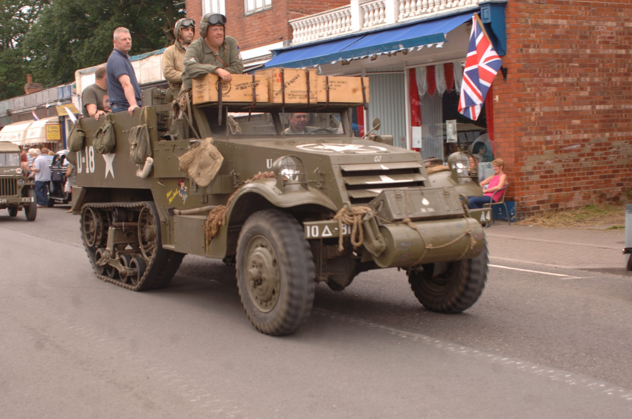 Half Track rumbling through the Broadway