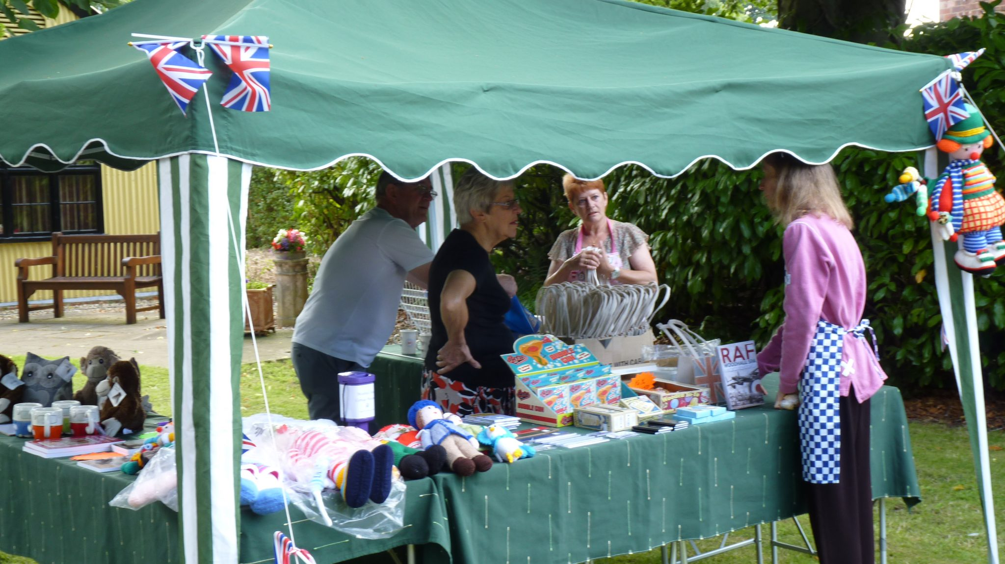 The Tombola and Merchandise stall