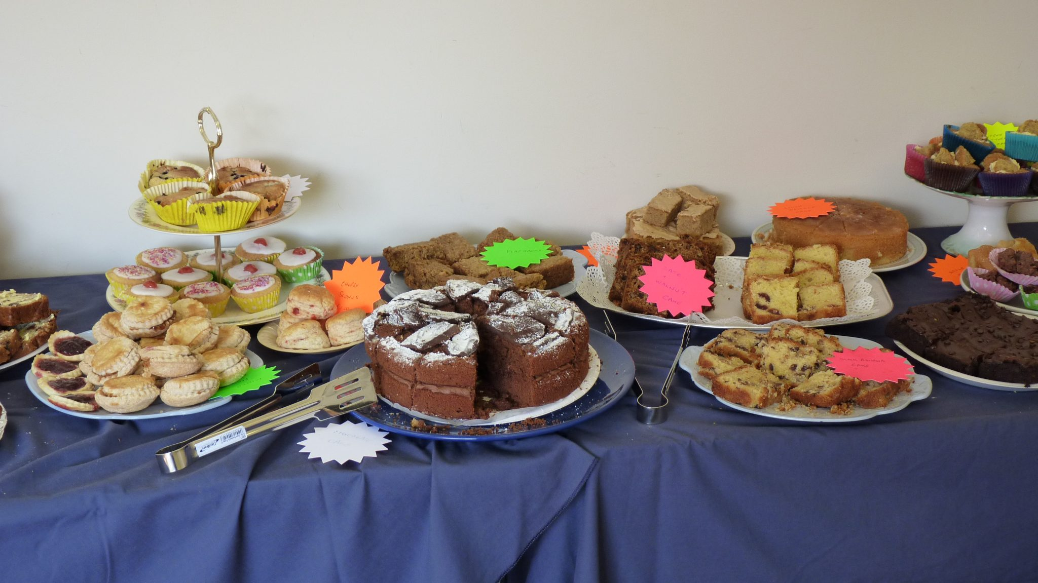 Just some of the homemade cakes donated by volunteers