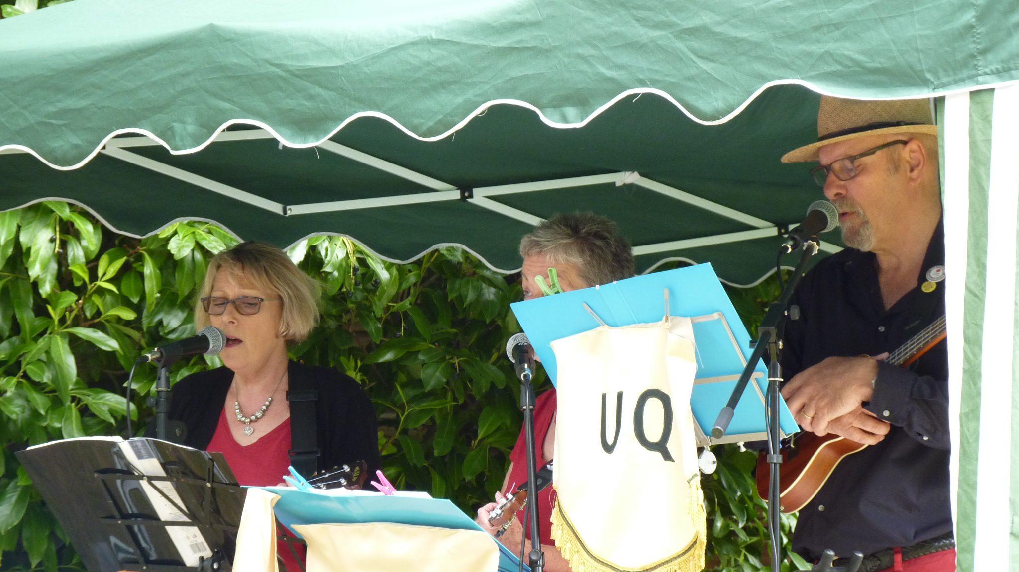 """""""UQ"""" during their Vera Lynn medley."""