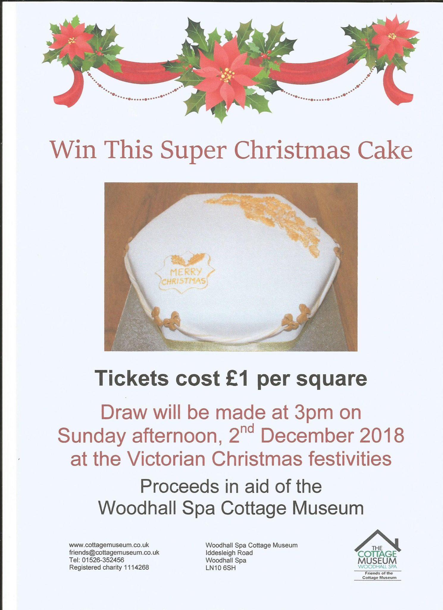It Christmas Merr Christmas.Christmas Cake Raffle Woodhall Spa Cottage Museum