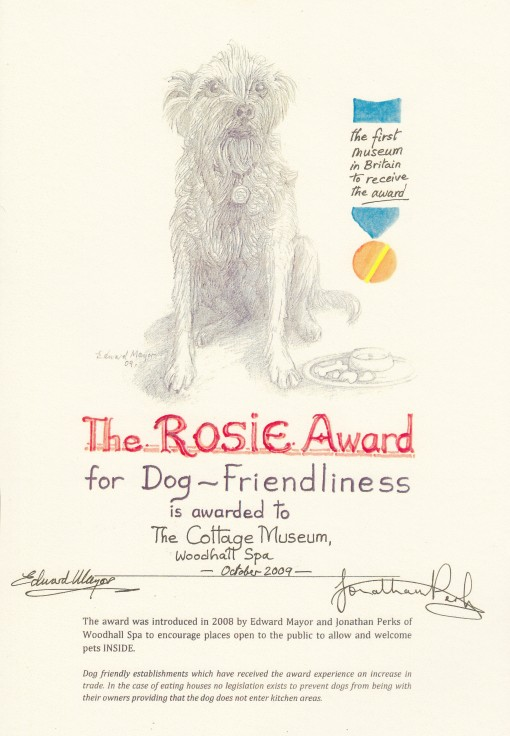 Rosie Award for Dog friendliness