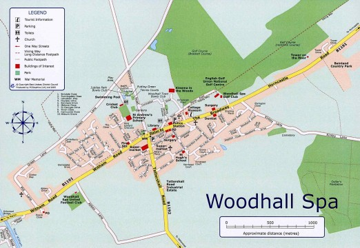 Woodhall Spa village map